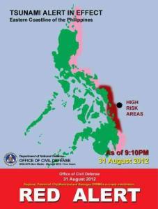 tsunami alerts philippines august 31 2012