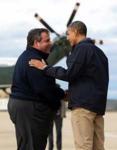 chris christie barack obama