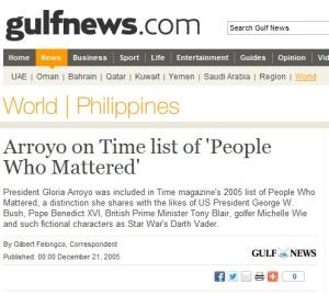gloria arroyo - time magazine