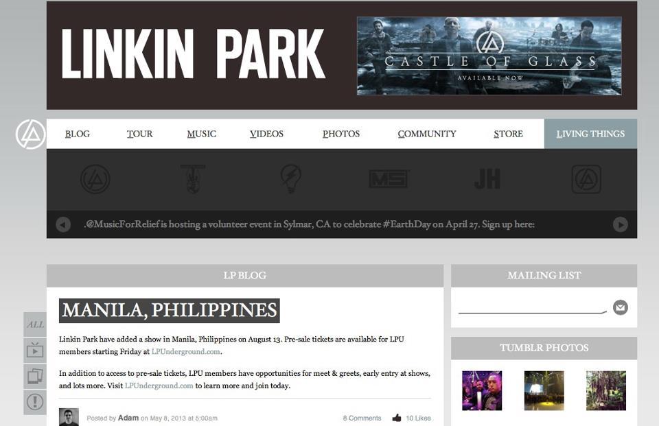 Linkin Park Tour  Asia