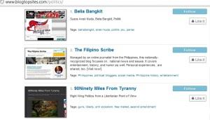 the filipino scribe - blogtopsites