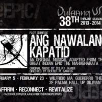 Dulaang UP presents 'Ang Nawalang Kapatid' by Floy Quintos